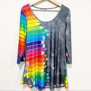LILY Rainbow Pencil Tunic/Dress